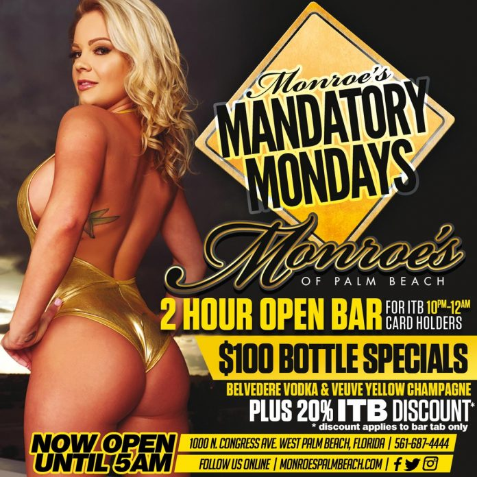 Monroes West Palm Beach Mandatory Mondays