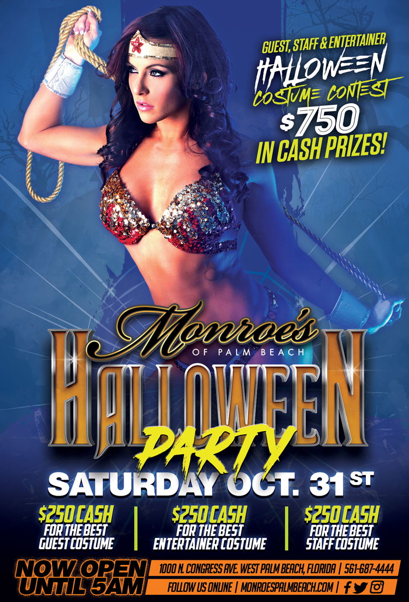 Halloween Party at Monroes Palm Beach