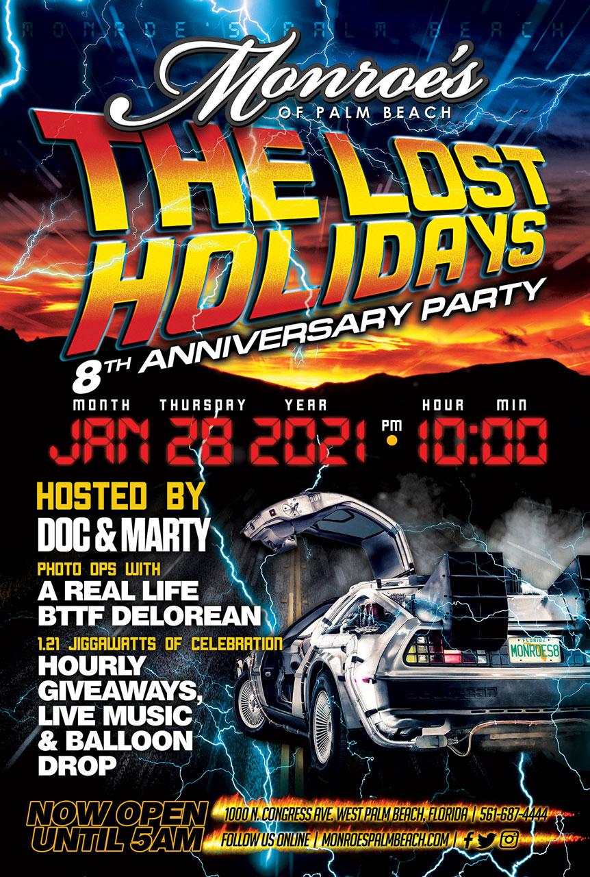 Monroe's Palm Beach 8th Anniversary Party January 28th 2021
