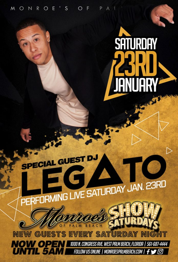 Monroes Palm Beach DJ Legato Jan 23rd