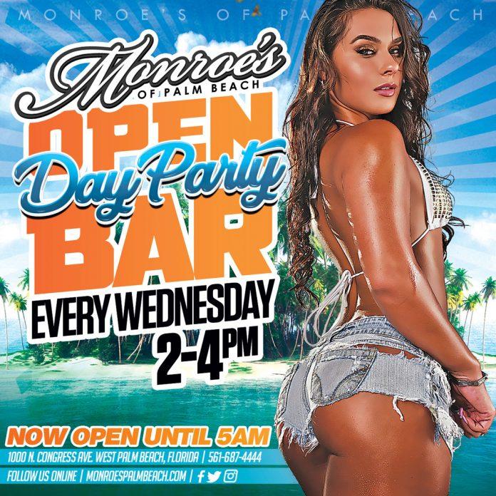 Monroes Palm Beach Open Bar Wednesdays