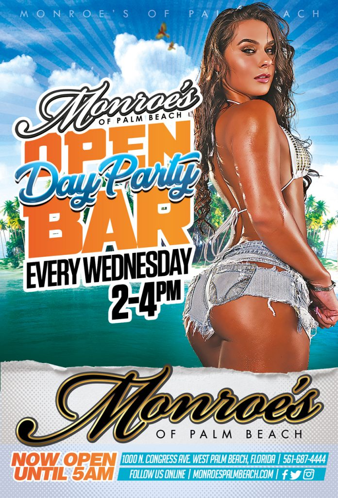 Monroes Palm Beach Open Bar Wednesdays