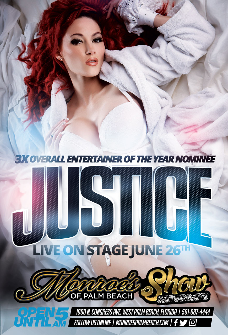 Justice the entertainer LIVE at Monroe's June 26th