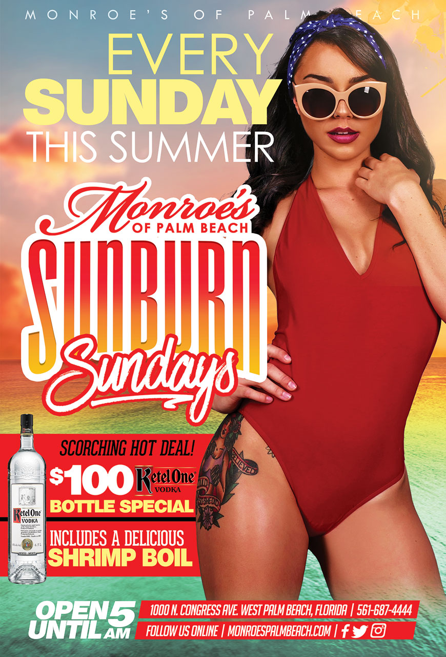 Sunburn Sundays at Monroes West Palm Beach