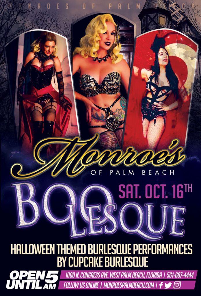 Halloween Boo-Lesque Shows by Cupcake Burlesque at Monroe's